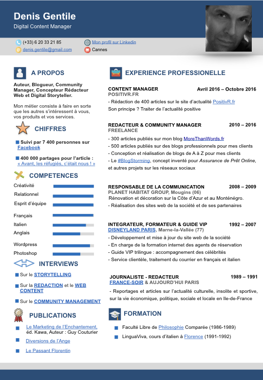 denis gentile  digital content manager   mon cv